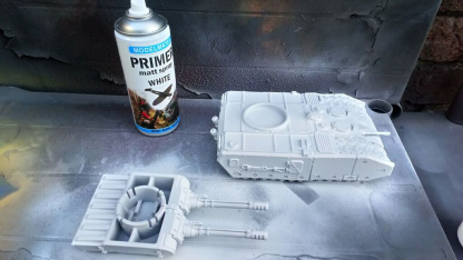 Initial undercoat using Modelmates White Primer