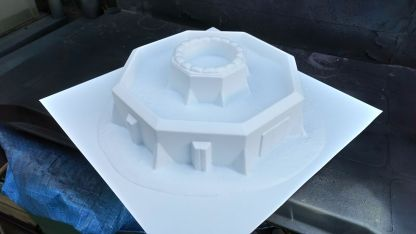 Bastion Stronghold Z204 - unpainted - note smooth surfaces