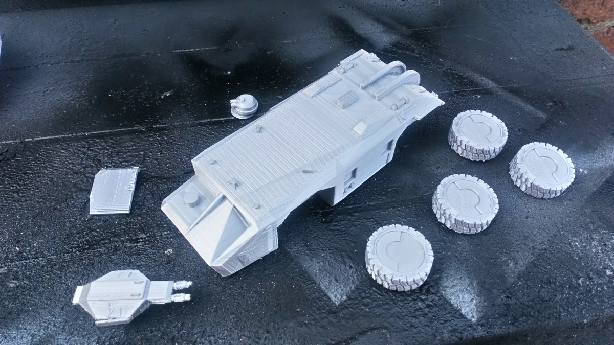 Aliens APC in 28mm scale (3D printed)