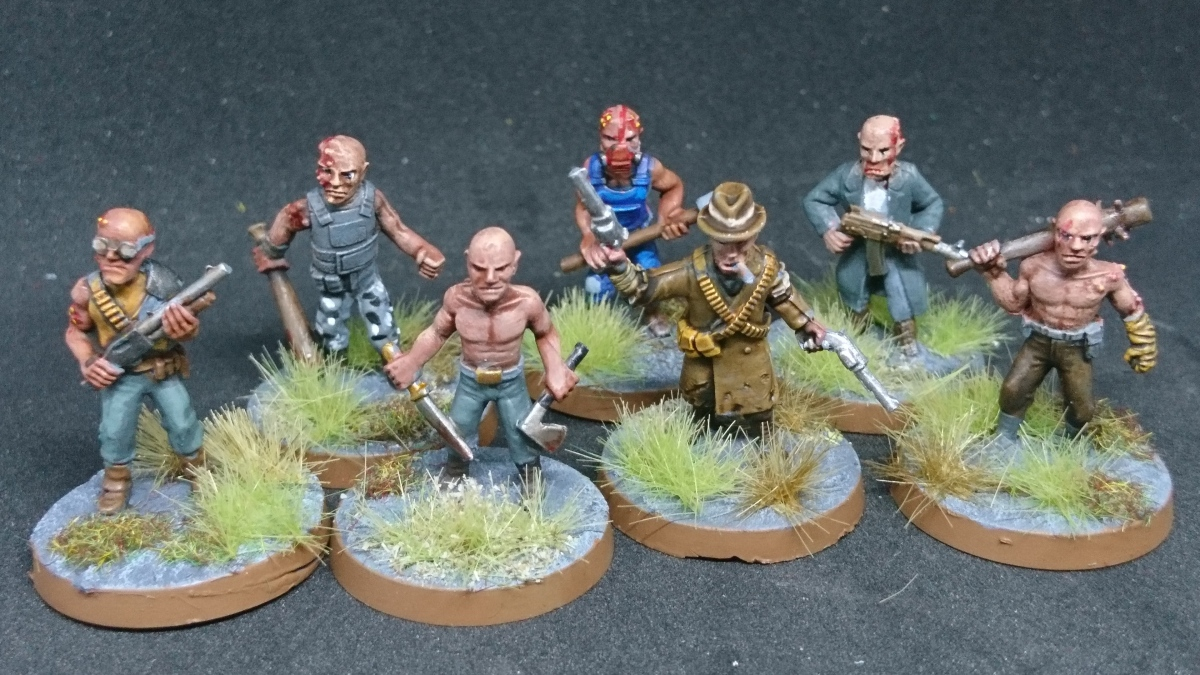 Painting the Apocalypse – Part 2 – Hazmat Troopers and the Mutant Hill Mob