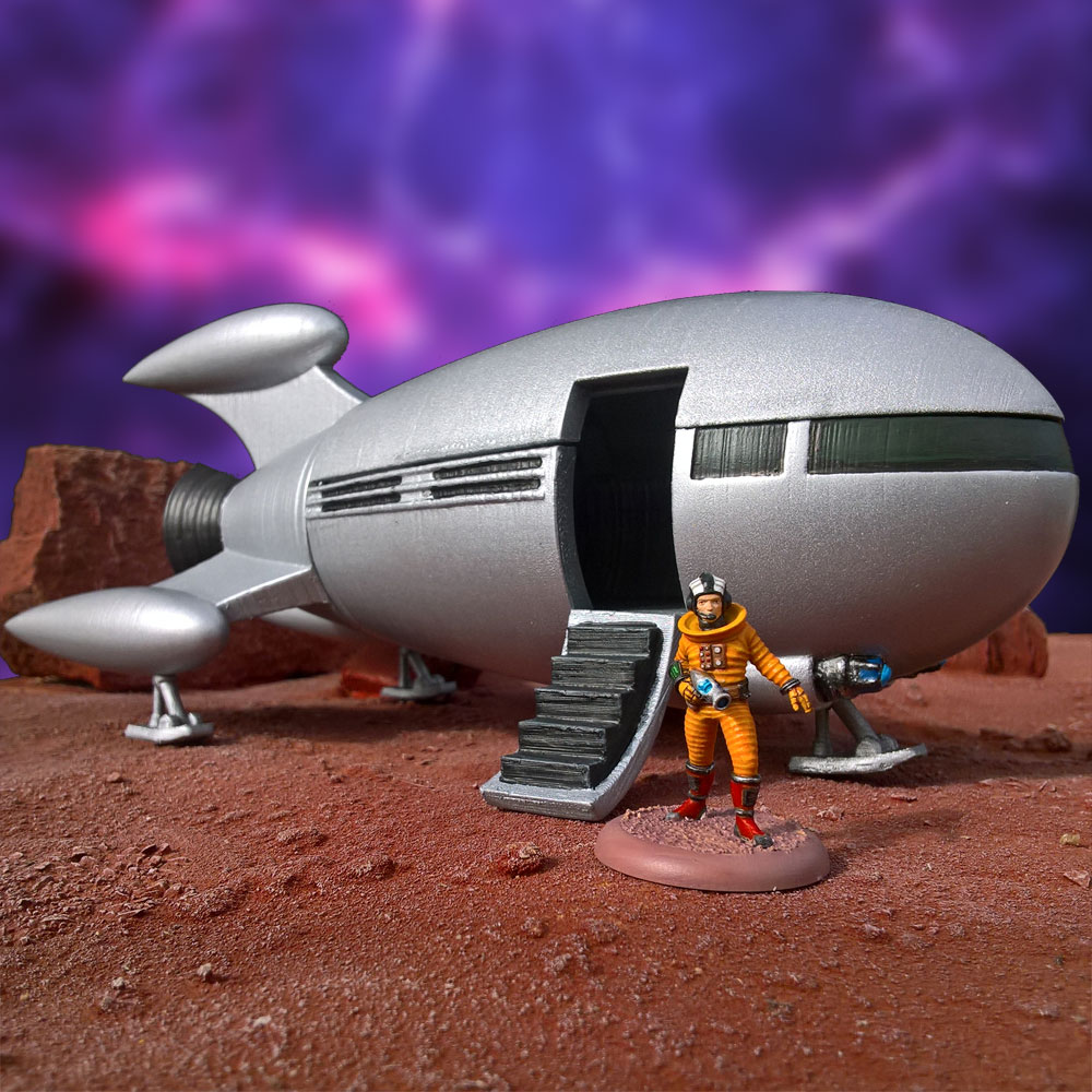 Cold War Miniatures - print your own rocketship